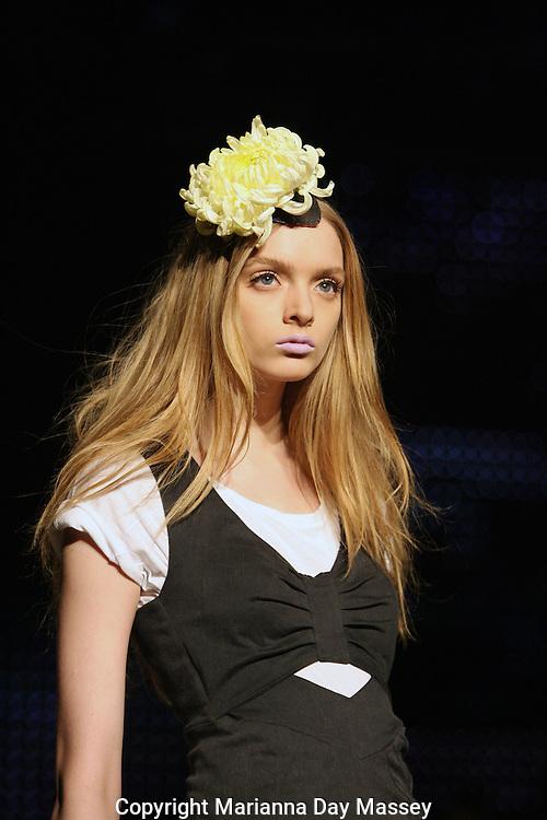 Apr 28, 2009 - Sydney, Australia -  A model displays a creation of 'Illionaire' during Day 2 of Rosemount Australian Fashion Week in Sydney..(Credit Image: © Hannah Mason/Corbis)