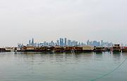 Doha Harbor. Scenes of Doha, Qatar.