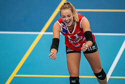 / in action in the supercup semifinal between VC Sneek and Sliedrecht Sport on October, 03 2020 in Van der Knaaphal, Ede