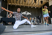 Cakes Da Killer performing at the Red Bull Sound Select stage at the Firefly Music Festival in Dover, DE on June 20, 2014.