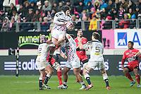 Hugh Pyle - 28.12.2014 - Stade Francais / Racing Club Toulon - 14eme journee de Top 14<br />Photo : Aurelien Meunier / Icon Sport