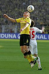 22.10.2011, SIGNAL IDUNA Park Dortmund, Dortmund, GER, 1.FBL, Borussia Dortmund vs 1. FC Köln / Koeln, im Bild Slawomir Peszko (Koeln #15) gegen Lukasz Piszczek (Dortmund #26) im Kopfball....// during the 1.FBL,  Borussia Dortmund vs 1. FC Köln / Koeln on 2011/10/22,  SIGNAL IDUNA Park Dortmund, Dortmund, Germany. EXPA Pictures © 2011, PhotoCredit: EXPA/ nph/  Herbst       ****** out of GER / CRO  / BEL ******