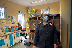 Clinic Manager Marilyn Jantjies at the TB/Coronavirus, at Adriaanse Clinic in Elsies River, Cape Town, Monday, July 13, 2020. All patients are screened verbally for COVID-19 at the clinic entrance, and are asked to go to the hospital for a test if they screen positive. However, there may be times when a patient is very ill, and already here, and must be tested, explains Jantjies.  PHOTO: EVA-LOTTA JANSSON