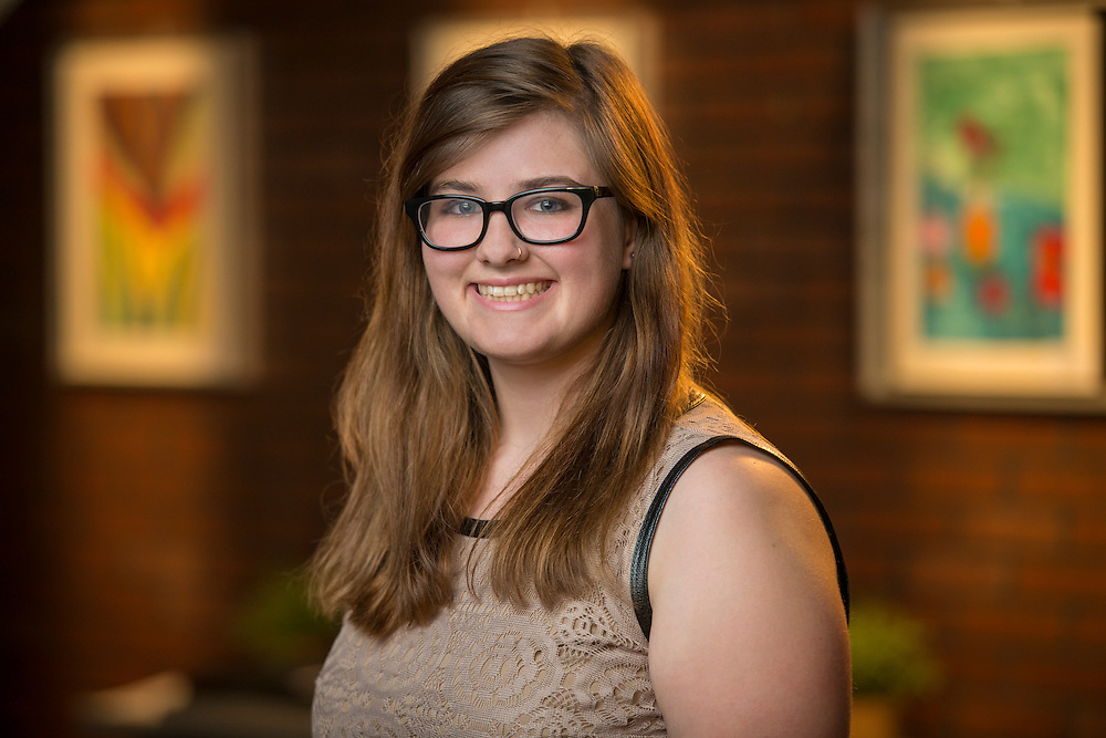Meghan Berndt poses for a photograph, July 9, 2014.