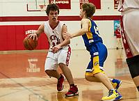 Laconia versus Franklin boys basketball.  (Karen Bobotas/for the Laconia Daily Sun)