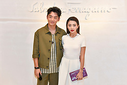 Milan Men's Fashion Week Spring Summer 2018. Milan Fashion Man, Spring Summer 2018. Salvatore Ferragamo arrives Pictured: Kai Zheng Yvonne Ching
