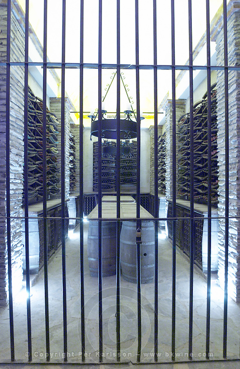 locked wine cellar herdade do esporao alentejo portugal