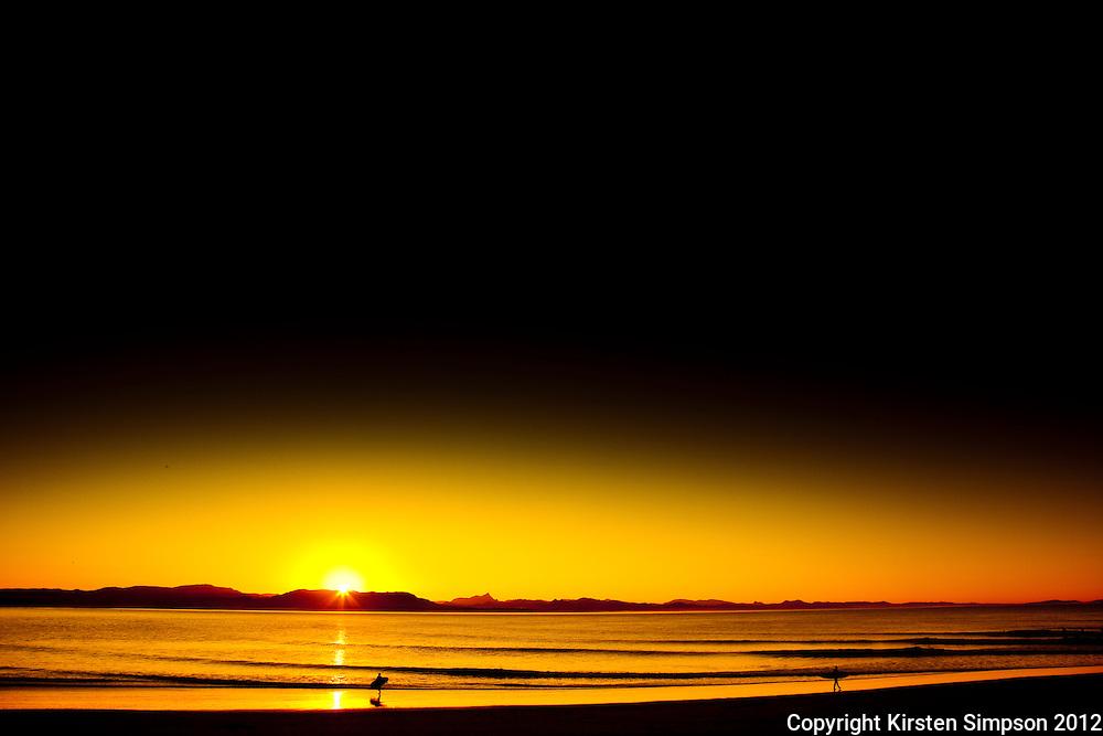 Sunset on Clarkes