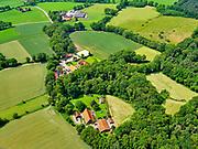 Nederland, Overijssel, Gemeente Dinkelland, 21–06-2020; coulisselandschap tussen Oldenzaal en Losser, boerderij De Duivelshof.<br /> Bocage landscape between Oldenzaal and Losser, De Duivelshof farm.<br /> <br /> luchtfoto (toeslag op standaard tarieven);<br /> aerial photo (additional fee required)<br /> copyright © 2020 foto/photo Siebe Swart