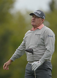 May 24, 2019 - Benton Harbor, NY, U.S. - ROCHESTER, NY - MAY 24: Thomas Levet hits his tee shot on the 15th hole during the second round of the KitchenAid Senior PGA Championship at Oak Hill Country Club on May 24, 2019 in Rochester, New York. (Photo by Jerome Davis/Icon Sportswire) (Credit Image: © Jerome Davis/Icon SMI via ZUMA Press)