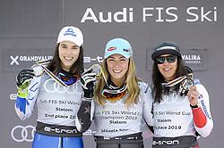 March 16, 2019 - El Tarter, Andorra - (L to R) Petra Vlhova, Mikaela Shiffrin and Wendy Holdener, at  Ladies Giant Slalom Audi FIS Ski World Cup podium, on March 16, 2019 in El Tarter, Andorra. (Credit Image: © Joan Cros/NurPhoto via ZUMA Press)