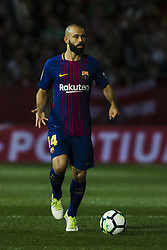 September 23, 2017 - Girona, Catalonia, Spain - Javier Mascherano from Argentina of FC Barcelona during the La Liga match between Girona FC v FC Barcelona  at Montilivi Stadium on September 23, 2017 in Girona, Spain. (Credit Image: © Xavier Bonilla/NurPhoto via ZUMA Press)