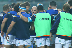 November 25, 2017 - Padova, Italy - Italy captain Sergio Parisse talking with the teammates during the Rugby test match between Italy and South Africa at Plebiscito Stadium in Padova, Italy on November 25, 2017. (Credit Image: © Matteo Ciambelli/NurPhoto via ZUMA Press)