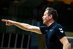 Gregor Rozman, head coach of Calcit Volley during 3rd Leg Volleyball match between Calcit Volley and Nova KBM Maribor in Final of 1. DOL League 2020/21, on April 17, 2021 in Sportna dvorana, Kamnik, Slovenia. Photo by Matic Klansek Velej / Sportida