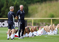 Photo: Chris Ratcliffe.<br />England Training Session. FIFA World Cup 2006. 29/06/2006.<br />Sven Goran Eriksson and Tord Grip in training.