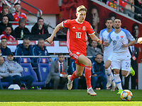 Football - 2018 / 2019 Euro Championship 2020 qualifying round. Wales v SLOVAKIA <br /> <br /> David Brooks of Wales on the attack<br /> at Cardiff City Stadium<br /> <br /> COLORSPORT/WINSTON BYNORTH