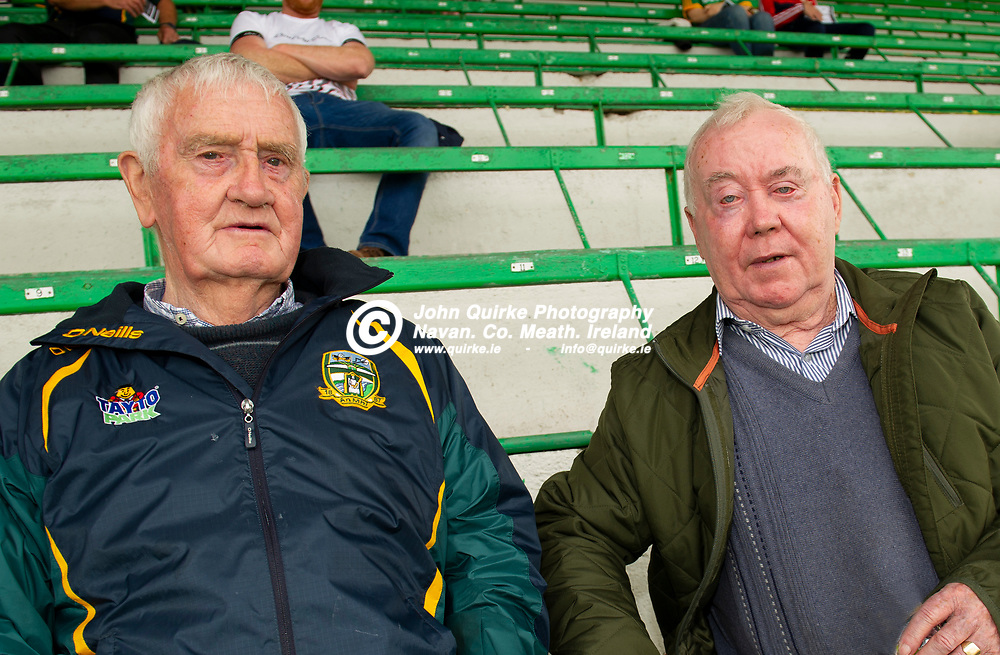 04-07-21. Meath v Longford - Leinster SFC Quarter-Final at Pairc Tailteann, Navan.<br /> John Bennett (Left and Oliver Thornton both from Bohermeen were  in Pairc Tailteann supporting Meath.<br /> Photo: John Quirke / www.quirke.ie<br /> ©John Quirke Photography, 16 Proudstown Road, Navan. Co. Meath. (info@quirke.ie / 046-9028461 / 087-2579454).