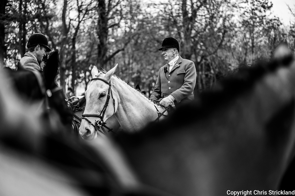 Clarilaw, Melrose, Scottish Borders, UK. 7th November 2018. Joint Master Ian Stark OBE. The Duke of Buccleuch Hunt, the largest mounted gun pack in Scotland, hold their traditional Opening Meet at Clarilaw Farm near Melrose in the Borders.