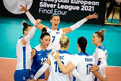 during volleyball match between Bosnia & Herzegovina and Austria in CEV Volleyball European Silver League 2021, on 12 of June, 2021 in Dvorana Ljudski Vrt, Maribor, Slovenia. Photo by Blaž Weindorfer / Sportida