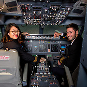 13.09.17.            <br /> Aviation Finance Finuas Network, Introduction To Aviation Leasing, Air Ventures, Shannon. Pictured are, Pictured are, Mengying Liu, SMBC Aviation Capital and Benjamin Landes, SMBC Aviation Capital. Picture: Alan Place