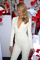 Australian Turf Club and Manning Cartell collaborate on a world-first fashion collection inspired by jockey silks. As Sydney super mare Winx aims for her 27th consecutive win and third title in the Group 1 $500,000 Colgate Optic White Stakes at Royal Randwick, supermodel Robyn Lawley was trackside taking in all the action racegoers can expect during the Australian Turf Club's 2018 Everest Carnival. Robyn showcased the first garment in the Everest Carnival Silks collection created in partnership with luxury Australian fashion house Manning Cartell. Australian Turf Club teamed up with Manning Cartell to create the bespoke collection of garments inspired by the striking patterns and bold colours of winning jockey silks. Robyn Lawley's Everest Carnival Silks dress is inspired by the pattern of Winx's winning jockey silks, with an exciting splash of Colgate's signature red. Additional garments from the Everest Carnival Silks collection will be showcased throughout Everest Carnival at De Bortoli Wines Golden Rose Day, TAB Epsom Day and Moët and Chandon Spring Champion Stakes Day. 15 Sep 2018 Pictured: Jennifer Hawkins, Jen Hawkins. Photo credit: Richard Milnes / MEGA TheMegaAgency.com +1 888 505 6342