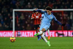 Leroy Sane of Manchester City passes the ball - Mandatory by-line: Jason Brown/JMP - 13/02/2017 - FOOTBALL - Vitality Stadium - Bournemouth, England - Bournemouth v Manchester City - Premier League