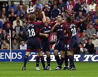 Photo: Greig Cowie, Digitalsport<br /> 27/09/2003.<br /> FA Barclaycard Premiership. Southampton v Middlesbrough, The St Marys Stadium.<br /> Malcolm Christie celebrates