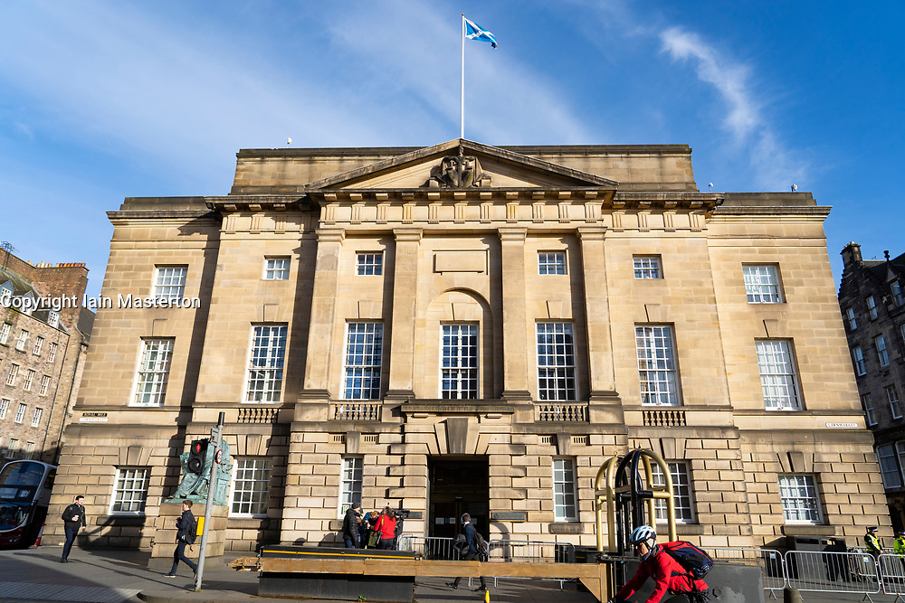 Exterior view of the High Court of Justiciary on the Royal Mile in Edinburgh, Scotland, UK