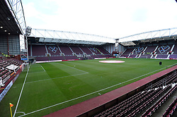 General view showing the new main stand before the Ladbrokes Scottish Premiership match at Tynecastle Stadium, Edinburgh. PRESS ASSOCIATION Photo. Picture date: Sunday December 17, 2017. See PA story SOCCER Hearts. Photo credit should read: Ian Rutherford/PA Wire. EDITORIAL USE ONLY