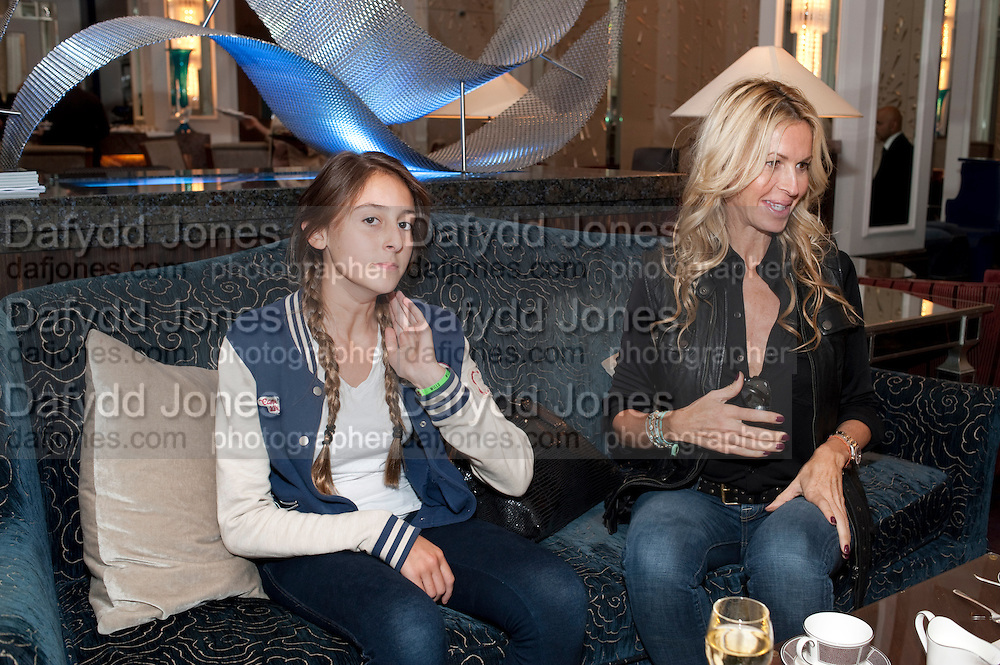 MELISSA ODABASH WITH HER DAUGHTER ALAIA, Stephen Webster hosted  the Stephen Webster Bijoux Tea.  Launching the  tea  inspired by StephenÕs most recent fine jewellery collection ÔMurder She WroteÕ whichwas also on display. Langham Hotel. Portland Place. London. 14 September 2011. <br /> <br />  , -DO NOT ARCHIVE-© Copyright Photograph by Dafydd Jones. 248 Clapham Rd. London SW9 0PZ. Tel 0207 820 0771. www.dafjones.com.<br /> MELISSA ODABASH WITH HER DAUGHTER ALAIA, Stephen Webster hosted  the Stephen Webster Bijoux Tea.  Launching the  tea  inspired by Stephen's most recent fine jewellery collection 'Murder She Wrote' whichwas also on display. Langham Hotel. Portland Place. London. 14 September 2011. <br /> <br />  , -DO NOT ARCHIVE-© Copyright Photograph by Dafydd Jones. 248 Clapham Rd. London SW9 0PZ. Tel 0207 820 0771. www.dafjones.com.