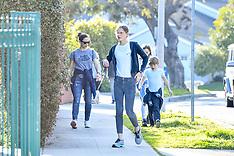 Jennifer Garner was seen talking her three kids out for a walk - 30 March 2020