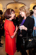 JANICE BLACKBURN;  GEORGINA MACPHERSON, Smythson Royal Wedding exhibition preview. Smythson together with Janice Blackburn has commisioned 5 artist designers to create their own interpretations of  Royal wedding memorabilia. Smythson. New Bond St. London. 5 April 2011.  -DO NOT ARCHIVE-© Copyright Photograph by Dafydd Jones. 248 Clapham Rd. London SW9 0PZ. Tel 0207 820 0771. www.dafjones.com.