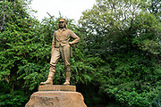Dr. David Livingstone memorial at Victoria Falls, the first statue on the Zimbabwean side