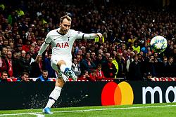 Christian Eriksen of Tottenham Hotspur takes a corner - Rogan/JMP - 01/10/2019 - FOOTBALL - Tottenham Hotspur Stadium - London, England - Tottenham Hotspur v Bayern Munich - UEFA Champions League Group B.