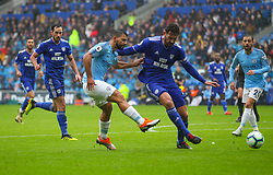 September 22, 2018 - Cardiff City, England, United Kingdom - Sergio Aguero of Manchester City shoots at goal during the Premier League match between Cardiff City and Manchester City at Cardiff City Stadium,  Cardiff, England on 22 Sept 2018. (Credit Image: © Action Foto Sport/NurPhoto/ZUMA Press)