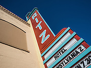 The art deco Ritz Theater marquee in Ritzville, Washington