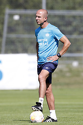 Assistant trainer Reinier Robbemond of PSV during the training camp of PSV Eindhoven at the Stade St-Marc traingscomplex on Juli 10, 2018 in Le Chable, Switzerland