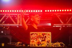 DJ Coch durante a 25ª edição do Planeta Atlântida. O maior festival de música do Sul do Brasil ocorre nos dias 31 Janeiro e 01 de fevereiro, na SABA, praia de Atlântida, no Litoral Norte do Rio Grande do Sul. FOTO: <br /> Gustavo Granata/ Agência Preview