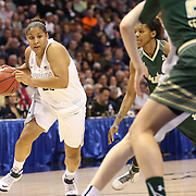 Kaleena Mosqueda-Lewis, UConn, in action during the UConn Huskies Vs USF Bulls Basketball Final game at the American Athletic Conference Women's College Basketball Championships 2015 at Mohegan Sun Arena, Uncasville, Connecticut, USA. 9th March 2015. Photo Tim Clayton
