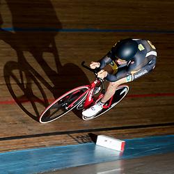 ALKMAAR (NED) baanwielrennen<br /> Op de wielerbaan van Alkmaar streden de wielrenners om de nationale baantitels. <br /> Theo Bos pakt de titel op de kilometer tijdens het NK Baan in Alkmaar