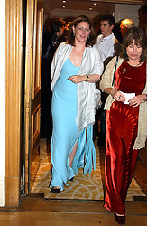 Left to right, SARAH BROWN wife of Gordon Brown and ? at The Caron Keating Foundation Dinner in honour of the late TV presenter who died in April 2004, held at The Savoy, London on 4th October 2004.<br /><br />NON EXCLUSIVE - WORLD RIGHTS