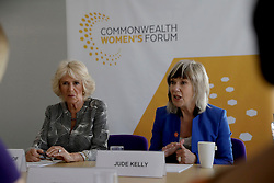 The Duchess of Cornwall attending a roundtable meeting and the closing session of the Women's Forum at the Queen Elizabeth II Conference Centre in London, during the Commonwealth Heads of Government Meeting.