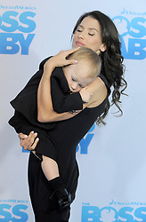 Hilaria Baldwin and Rafael Baldwin attending The Boss Baby premiere at AMC Loews Lincoln Square 13 theater on March 20, 2017 in New York City, NY, USA. Photo by Dennis Van Tine/ABACAPRESS.COM