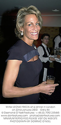 Writer LEONIE FRIEDA at a dinner in London on 22nd January 2002.<br />OWU 84