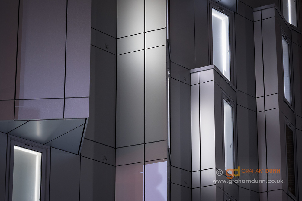 An urban abstract of light and shape in Sheffield, South Yorkshire, UK.