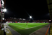 General view inside the Vitality Stadium ahead of the EFL Sky Bet Championship match between Bournemouth and Nottingham Forest at the Vitality Stadium, Bournemouth, England on 24 November 2020.