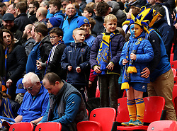 General view of Shrewsbury Town fans before the Checkatrade Trophy final at Wembley Stadium, London.