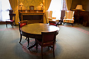The furnishings of the Ambassadors Meeting Room where senior foreign diplomats wait for official meetings, in the Foreign and Commonwealth Office FCO, on 17th September 2017, in Whitehall, London, England.