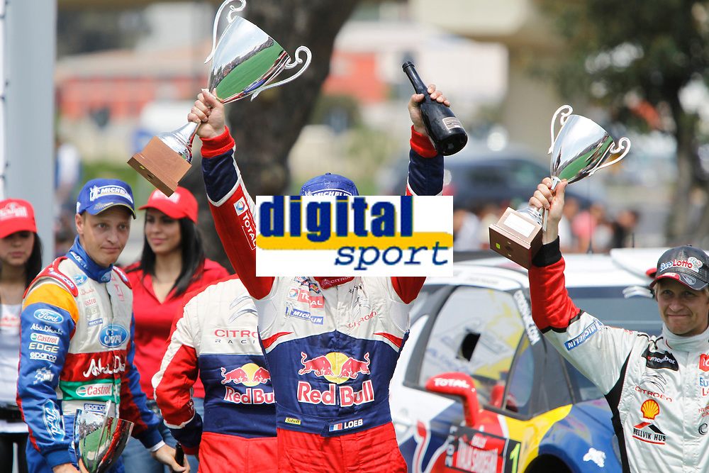 MOTORSPORT - WRC 2011 - RALLYE ITALIA SARDEGNA - OLBIA (ITA) - 05/05 TO 08/05/2011 - PHOTO : FRANCOIS BAUDIN / DPPI 01 SEBASTIEN LOEB (FRA) / DANIEL ELENA (MCO) - CITROËN DS3 WRC - CITROËN TOTAL WRT - AMBIANCE PODIUM HIRVONEN MIKKO (FIN) - FORD FIESTA RS WRC - FORD ABU DHABI WORLD RALLY TEAM - AMBIANCE PORTRAIT SOLBERG PETTER (NOR) - CITROËN DS 3 WRC - PETTER SOLBERG WRT - AMBIANCE PORTRAIT