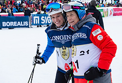 20.01.2018, Hahnenkamm, Kitzbühel, AUT, FIS Weltcup Ski Alpin, Kitzbuehel, Kitz Charity Trophy, im Bild v.l.: Marlies Raich, Peter SChröcksnadel // f.l.: Marlies Raich Peter SChröcksnadel during the Kitz Charity Trophy of the FIS Ski Alpine World Cup at the Hahnenkamm in Kitzbühel, Austria on 2018/01/20. EXPA Pictures © 2018, PhotoCredit: EXPA/ Stefan Adelsberger